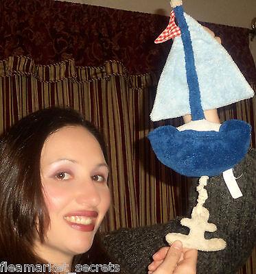 Pottery Barn Kinder Pbk Nautische Segelboot Babywiege Musical Zieh Segel Boot