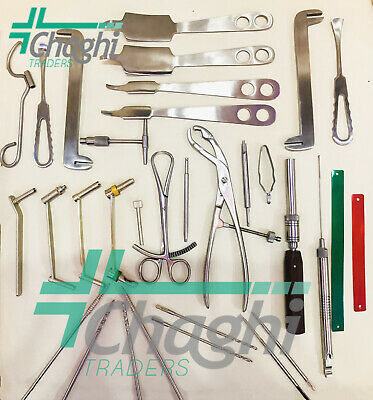 Large Fragment Set Stainless Steel Orthopedic Veterinary Instruments By Chaghi
