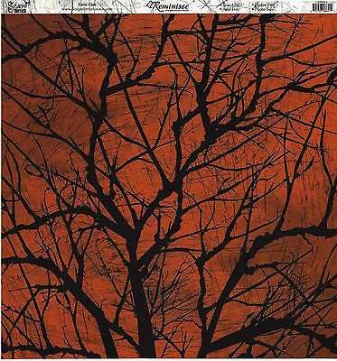 Reminisce - Eerie Oak Tree Halloween Scrapbooking Paper - 12x12 - Double Sided (Eerie Halloween)