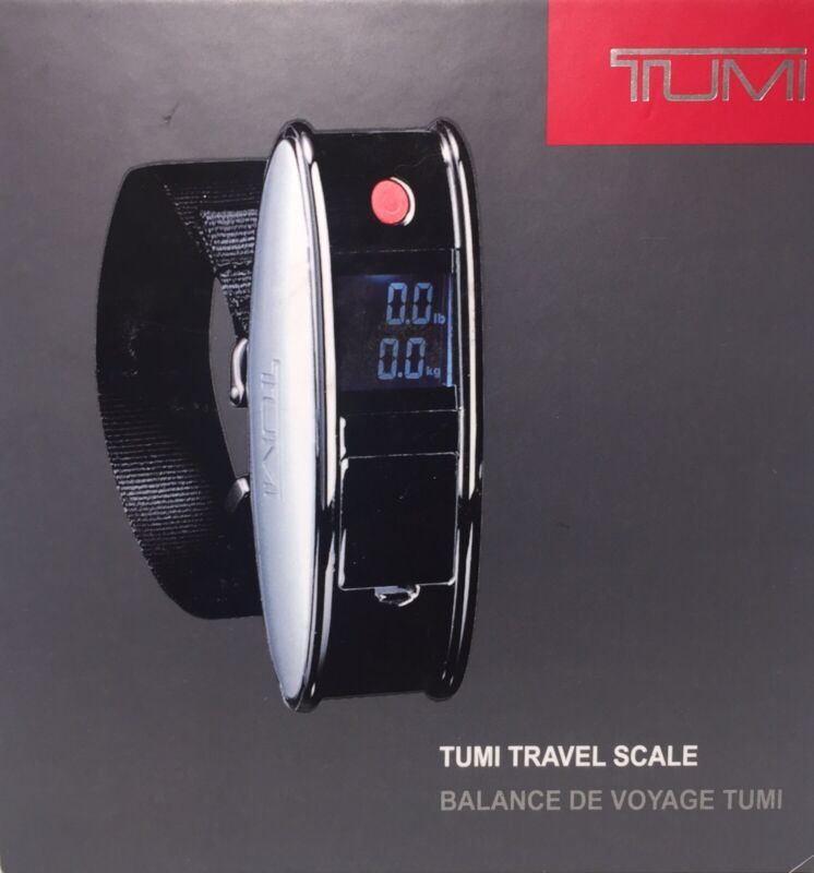 New TUMI Digital Luggage Baggage Scale, For Traveling Gun Metal Up To 110 LBS