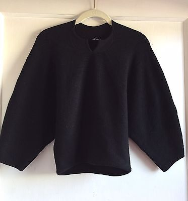 Meadham Kirchhoff Black Knit Crop Sweater Top Size M L Made In Italy $1,000