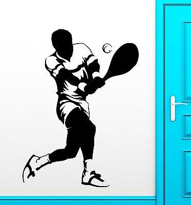 Sport Wall Stickers Sports Tennis Player Fan Vinyl Decal