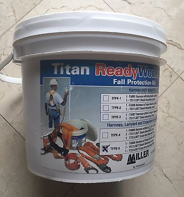 Miller Titan By Honeywell Tfpk-5 Ready Worker Fall Protection Kit 1xer4