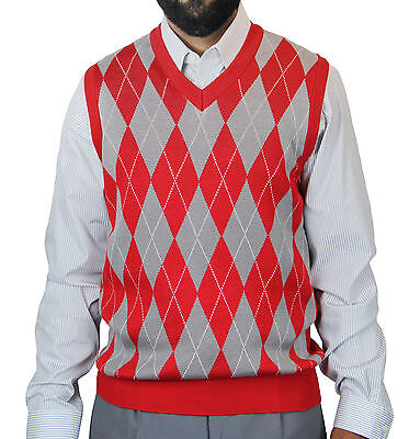 Big Tall Sweater Vests - BLUE OCEAN MEN'S V-NECK CASUAL BIG AND TALL JACQUARD ARGYLE SWEATER VEST