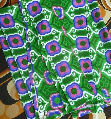 Vintage 1970s Geometric Design pair of Curtains...