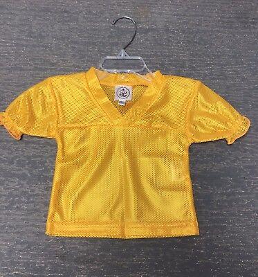 Blank Spirit Jersey (Girls Ruffled 3T Blank Gold Halloween Costume Football Spirit Jersey NWT)