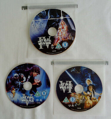 Star Wars Original Trilogy Episodes 4-6 Hope Empire Jedi DVD Region 2 Disc Only