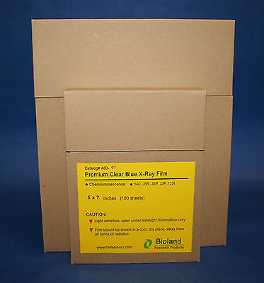 Blue X-ray Film For Western Blot 5x7 100box