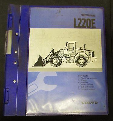 Volvo L220e Front End Wheel Loader Service Manual 33 Three Of Three