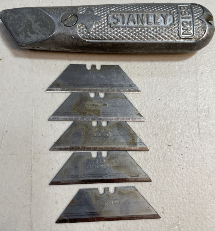 VTG Stanley Fixed Blade Utility Knife No 199-Includes 5 Sharp Blades