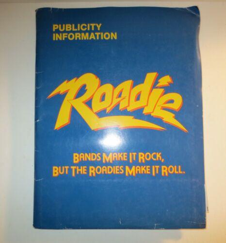 Roadie Complete Press Kit & 3 Negatives Alice Cooper Blondie Meatloaf & More