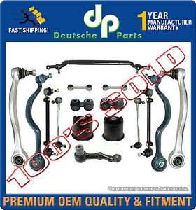 BMW 7 E32 Control Arm Ball Joint Tie Rod Sway Bar Link Subframe Mount Kit 16 pc