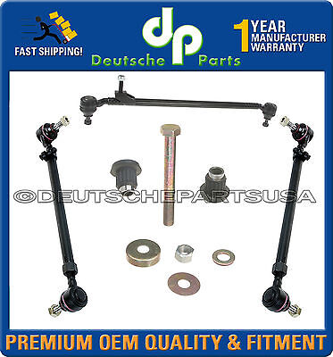 MERCEDES 190D 190E Center Drag Link Tie Rod Rods Set Idler Arm Repair Kit