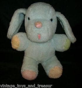 13 vintage baby blue puppy dog blue eyes pink nose stuffed animal plush toy. Black Bedroom Furniture Sets. Home Design Ideas