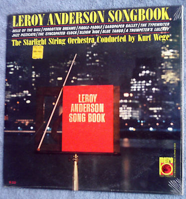 Leroy Anderson Songbk sealed LP Sleigh Ride Christmas Blue Tango Jazz Pizzicato