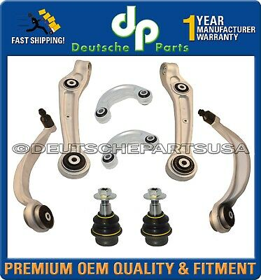 BENTLEY CONTINENTAL GTC FRONT CONTROL ARMS BALL JOINTS SWAY BAR SUSPENSION KIT 8