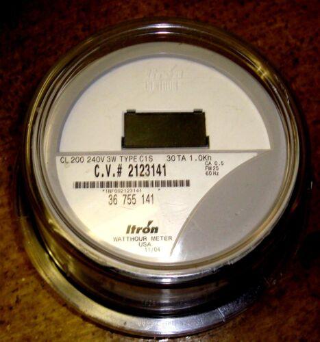 ITRON WATTHOUR METER (KWH) C1S/C1SR, CENTRON, 240 VOLTS, FM2S, 200 AMPS, 4 LUGS