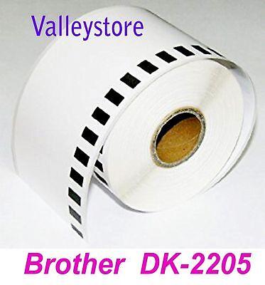 Lot 4 Rolls Brother Dk2205 Continuous Label Ql 500 550 570 580n 650td Printer