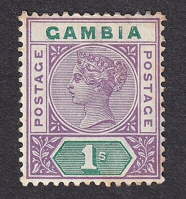 Gambia 1898 violet/green crown CA mint hinged