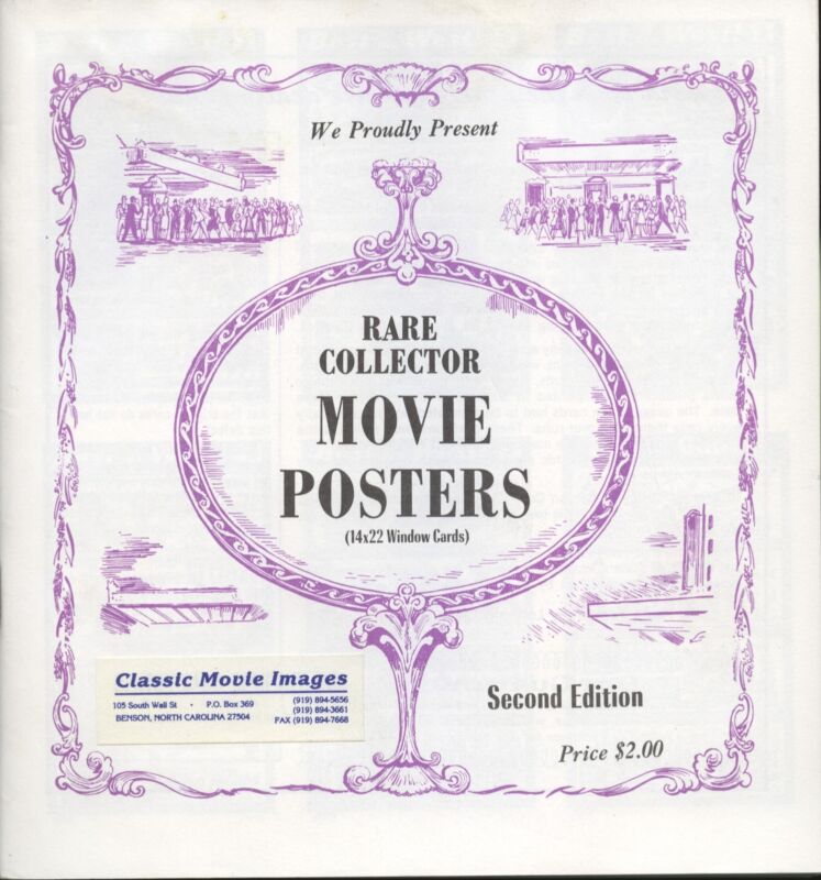 Rare Collector Movie Posters Catalog Second Edition Classic Movie Images