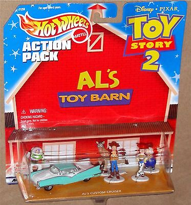 DISNEY TOY STORY 2 Hot Wheels Action Pack - BUZZ, WOODY, JESSIE +,  NEW on Card!](Jessie Toy Story 2)