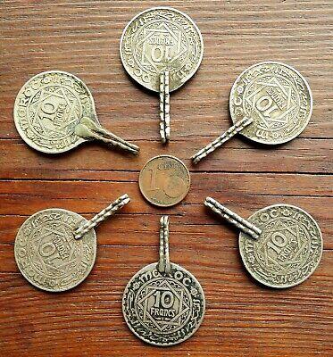 42mm Pendant Coin Metal Antique Berber Morocco Antique Moroccan Coin Pendant 3