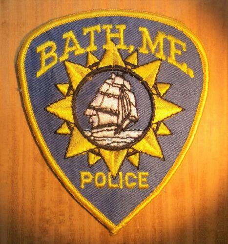 GEMSCO NOS Vintage Collective Patch POLICE BATH MAINE  ME - Original 45+