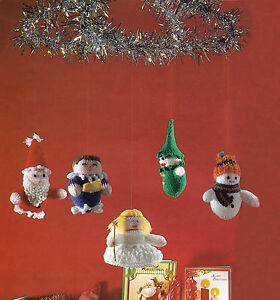 KNITTING PATTERN 8156 Instructions to make CHRISTMAS MOBILE FAIRY SNOWMAN ELF +