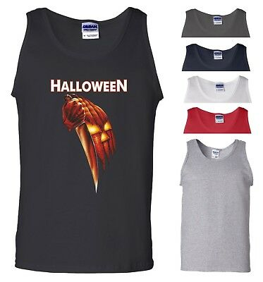 Halloween Vest Movie Scary Horror Night Pumpkin Trick or Treat Gift Men Tank Top