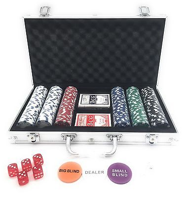 LANSH 300 Piece Poker Set with Aluminum Carrying Case, 11.5g Dual Toned Chips