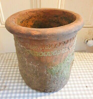 Antique Chimney Pot Terracotta Garden Feature Planter Rustic Retro Vintage