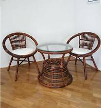 3Pc Wicker Outdoor Lounge Garden Sofa Table Chairs Rattan setting Thomastown Whittlesea Area Preview