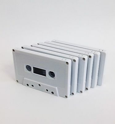 x 6 ea Bulk Pack C-60 White Shell Blank Cassette Tape fine quality Korean prod.