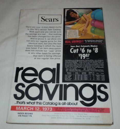 Vtg Winter 1973 Sears Catalog