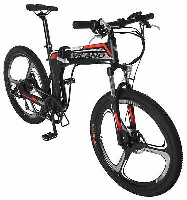 Vilano PROTON  Electric Folding Mountain Bike, 26-Inch Mag Wheels
