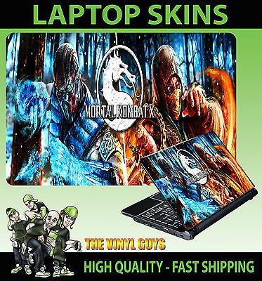 Laptop Aufkleber Mortal Kombat Skorpion Sub Zero Zubehör Haut Verschiedene Größe ()