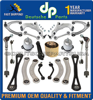 AUDI Q7 FRONT REAR Control Arms Ball Joint + ENGINE TORQUE MOUNT SUSPENSION KIT