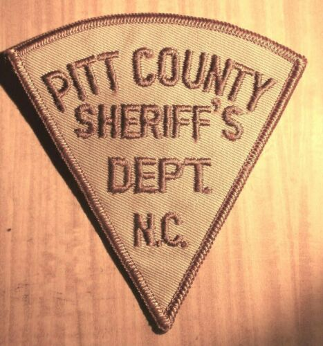 GEMSCO NOS Vintage Patch - SHERIFF PITT COUNTY NC - +40 year old