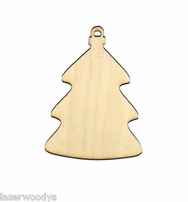 Christmas Tree Ornament Unfinished Wood Shape CT3757 Crafts Lindahl Woodcrafts