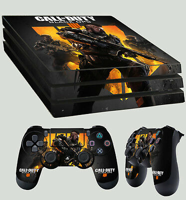 PS4 Pro Skin Call Of Duty Black Ops IIII 4 Sticker + 2 X Pad decal Vinyl