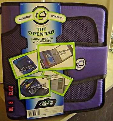New Case It Velcro Closure 2-inch Ring Binder Expandable Tab File Purple S-816
