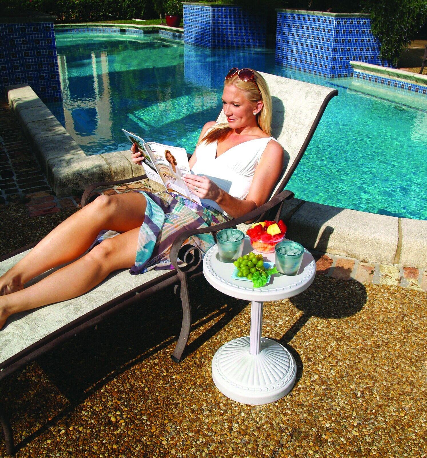 adjustable pool side outdoor patio table