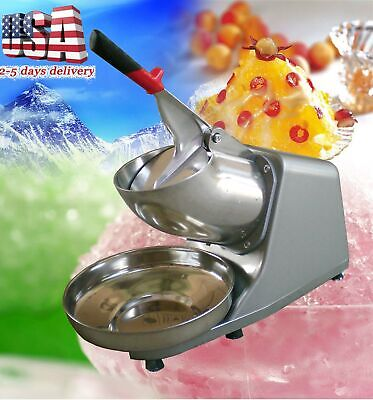 300w 132lbsh Electric Ice Shaver Crusher Machine Snow Cone Maker Shaved Cool