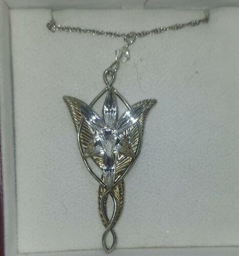 Sterling Silver Reproduction of Arwen Everstar Pendant for LOTR