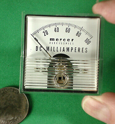 Mercer Electronics Panel Meter 0-100 Ma Dc 1.75 Square Face Nos Pm812.23