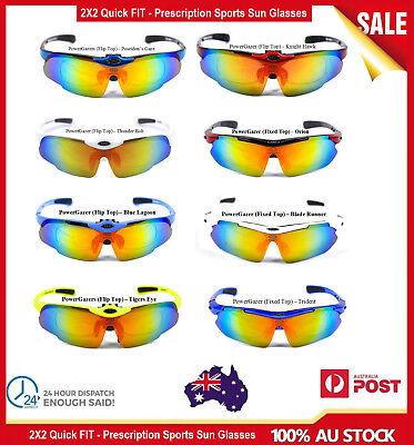 QUICK-FIT Sports Runing Bike Cycling Tennis Golf Prescription Sunglasses (Prescription Tennis Sunglasses)