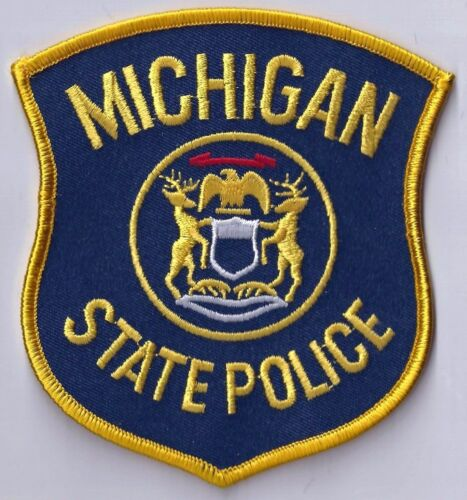 MICHIGAN STATE POLICE - SHOULDER PATCH - IRON OR SEW-ON PATCH