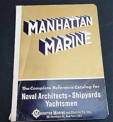 Manhattan Marine vintage 1965 catalog naval yachts sailing ships