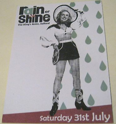 Advertising Music Rain or Shine The King's Arms Salford