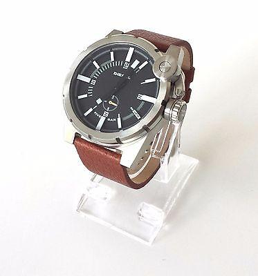 Original Diesel Herren Uhr braun schwarz Leder DZ4270 Neu